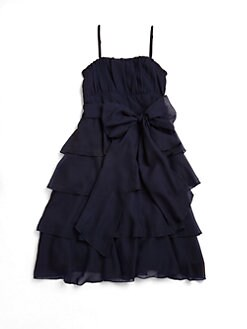 Un Deux Trois - Girl's Ruffled Chiffon Dress
