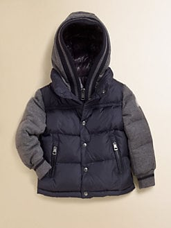 Moncler - Boy's Two-Tone Puffer Jacket