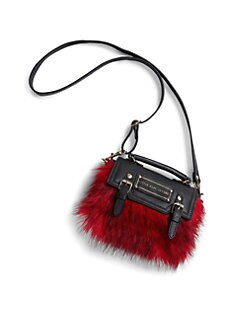 Little Marc Jacobs - Girl's Faux Fur & Leather Bag