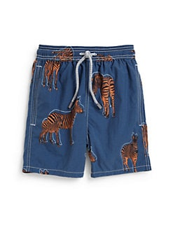 Vilebrequin - Boy's Zebra Print Swim Trunks