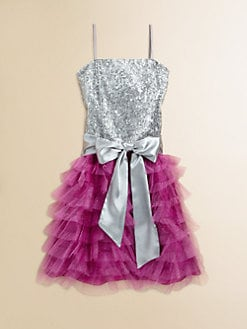 Un Deux Trois - Girl's Ruffled Sequin Dress