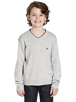 Armani Junior - Boy's AJ Patch Sweater