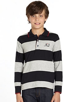 Armani Junior - Boy's Striped Polo Shirt