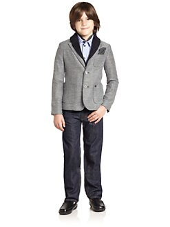 Armani Junior - Boy's Woven Wool Blazer