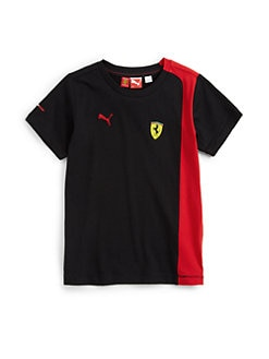 PUMA Ferrari - Boy's Colorblock Ferrari Tee