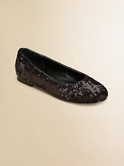 Ralph Lauren - Girl's Etta Sequined Ballet Flats