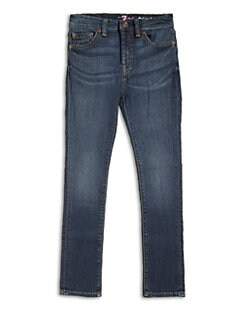 7 For All Mankind - Girl's Glitter Skinny Jeans