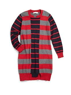 Stella McCartney Kids - Girl's Cotton & Cashmere Stripe Sweater Dress