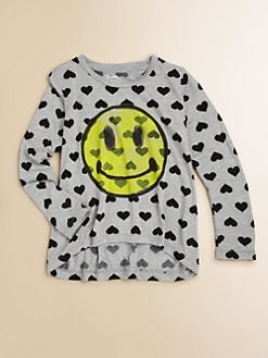 Flowers by Zoe - Girl's Smiley Hearts Sweatshirt