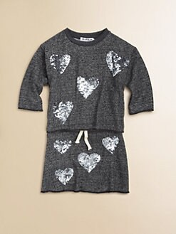 Flowers by Zoe - Girl's Sequin Heart Sweatshirt