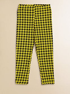 Flowers by Zoe - Girl's Houndstooth Leggings