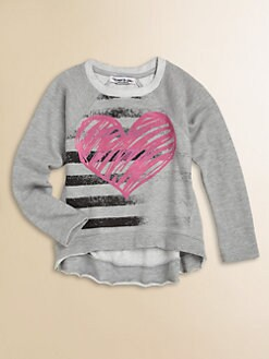 Flowers by Zoe - Girl's Heart Sweatshirt