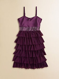 Flowers by Zoe - Girl's Ruffled Party Dress