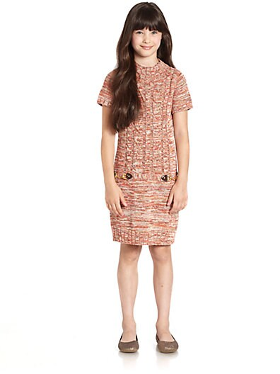 ea1b2f8ac6b KC Parker by Hartstrings Girls Marled Cotton Sweater Dress Hazelnut ...
