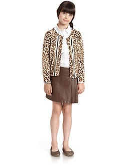 KC Parker by Hartstrings - Girl's Leopard Print Cardigan