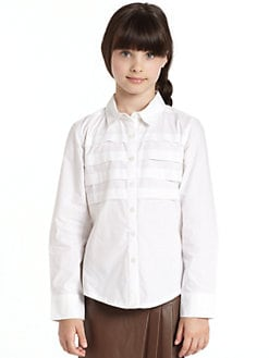 KC Parker by Hartstrings - Girl's Pleated Poplin Shirt