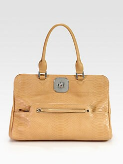 Longchamp - Gatsby Exotic Python Embossed Leather Shoulder Bag