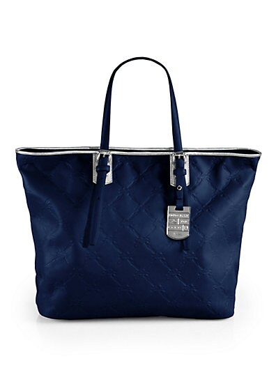 LM Cuir Stamped Leather Tote