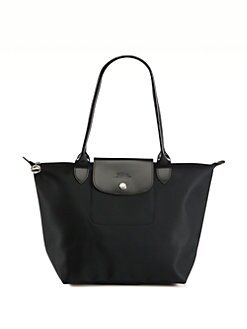 Longchamp - Planete Medium Nylon & Leather Trim Tote