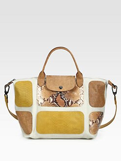 Longchamp - Le Pliage Mixed-Media Patchwork Satchel