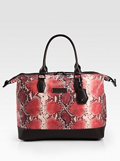 Longchamp - Legende Souple Snake Embossed Leather Top Handle Bag