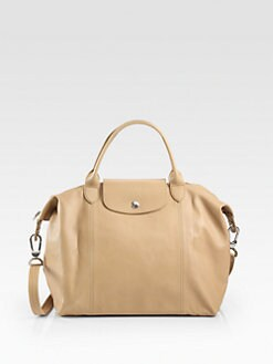 Longchamp - Le Plaige Cuir Medium Top Handle Bag
