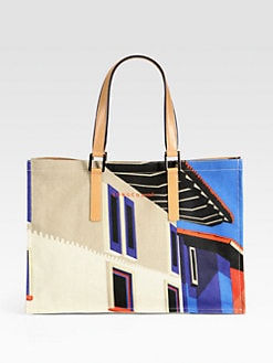 Longchamp - Finca Luisa Medium Canvas Tote
