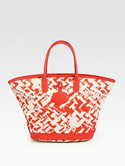 Longchamp - Sunweave Medium Printed Canvas Tote