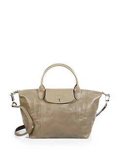Longchamp - Le Plaige Cuir Small Top Handle Bag