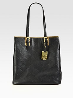 Longchamp - LM Cuir Stamped Leather North South Tote