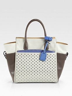 Reed Krakoff - Alantique Perforated Leather Satchel