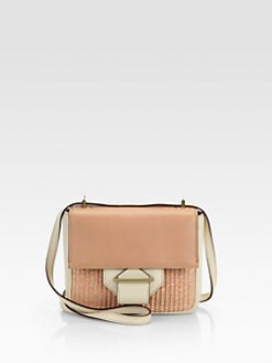 Reed Krakoff - Mixed-Media Colorblock Shoulder Bag