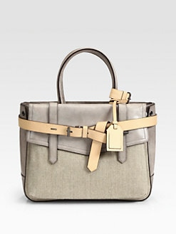 Reed Krakoff - Hand Finished Leather and Linen Boxer Bag
