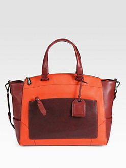 Reed Krakoff - Soft Frame Colorblocked Uniform Satchel