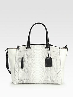Reed Krakoff - Hard Uniform Mixed-Media Top Handle Bag