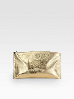 Reed Krakoff - Atantique Metallic Leather Pouch