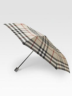 Burberry - Check Trafalgar Packable Folding Umbrella