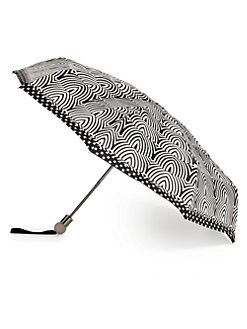 Marc by Marc Jacobs - Radiowaves Print Folding Umbrella