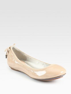 Cole Haan - Air Patent Leather Suede-Trimmed Ballet Flats