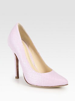 Cole Haan - Chelsea Snake-Embossed Leather Pumps