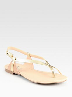 Cole Haan - Inwood Metallic Leather Thong Sandals