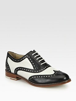 Cole Haan - Skylar Leather Lace-Up Oxfords