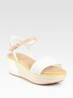 Cole Haan - Arden Suede & Leather Espadrille Wedge Sandals