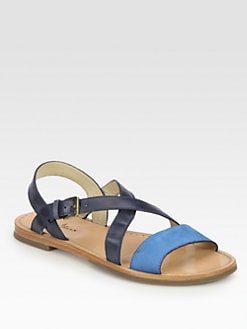 Cole Haan - Minetta Suede & Leather Sandals