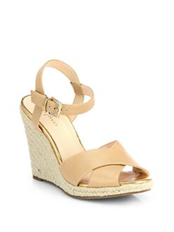 Cole Haan - Hart Leather Espadrille Wedge Sandals