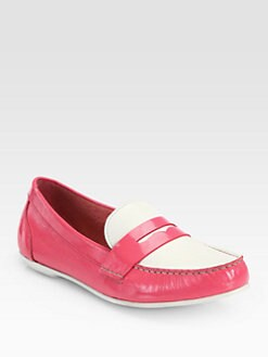 Cole Haan - Monroe Bicolor Patent Leather Loafers