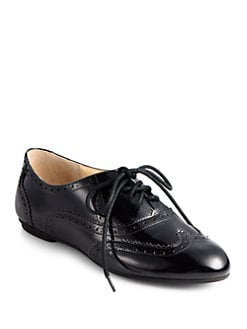Cole Haan - Tompkins Patent Leather Lace-Up Oxfords