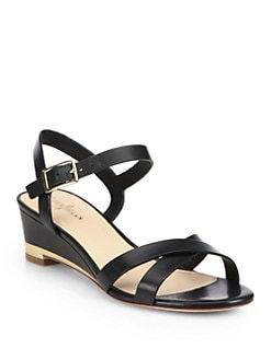 Cole Haan - Melrose Leather Strappy Wedge Sandals