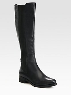 Cole Haan - Jodhpur Stretchy Leather Knee-High Boots