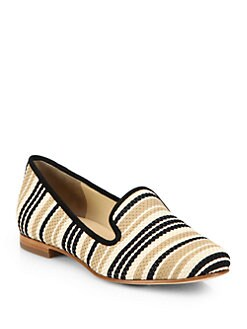 Cole Haan - Sabrina Woven Leather & Suede Loafers